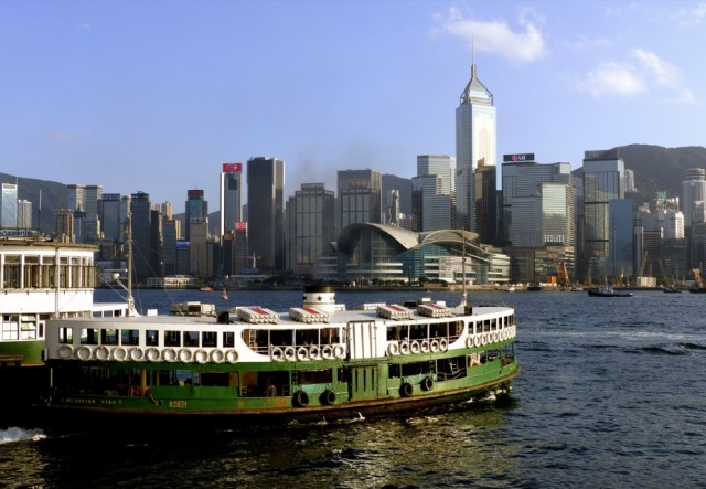 Junk Boat and Star Ferry Hong Kong